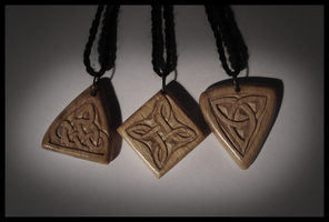 celtic knot pendants by DarkMark1991