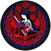 :Stained Glass: Marceline the Vampire Queen by PowBunny