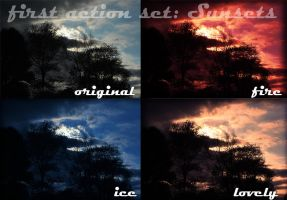 Vibrant Sunsets Action Set by amy-derfer