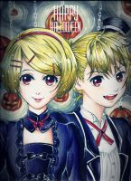 Happy Halloween! from Rin and Len Kagamine~ by heriumu-kaji