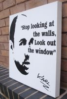 Karl Pilkington - Stencil Spraypaint Quote by RAMART79