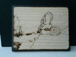 Kecleon wood burning~! by Gatodae