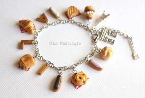 Customised Charmbracelet Breakfast in Paris by LaNostalgie05