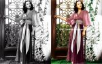 Vivien Leigh (before and after) by farahkhan