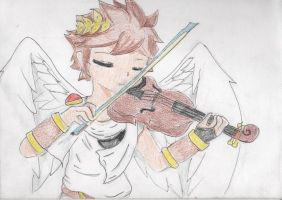 Pit plays the violin by 1sthi1357