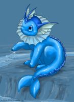Colouring - Vaporeon by Silverbirch