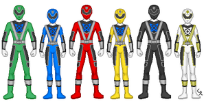 Power Rangers Over Tech by kram-elbog