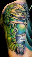 Michael's Foo Dog by Sirius-Tattoo