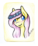 with flower crown or something... Fluttershy by Alexis25