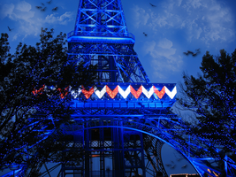 Kings Island Eiffel Tower BKG by WDWParksGal-Stock