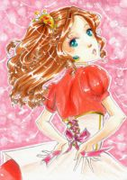 ACEO - Pink Pink Pink and Gold by SanoWasHere