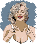 Marilyn - quick vector art practise... by killerwig