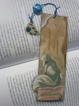 Artic Fox Bookmark (SOLD) by AndromedasWitchery