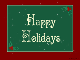 Happy Holidays Wallpaper by ChateauOfSolitude
