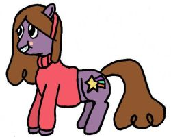 Mabel Pines as a pony by Closer-To-The-Sun