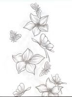 Tattoo Flowers Butterfly 1-2 by 2Face-Tattoo