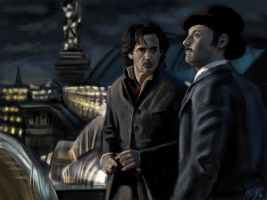 Holmes and Watson by DreamyNatalie