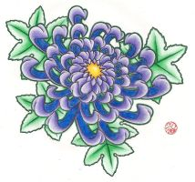 Chrysanthemum Colored by Laranj4