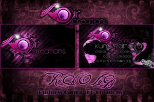 KR Creations Business Card by RoCKoLoGY666