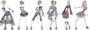 gothic clothes designs by cold-blooded-angel