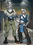 Commission: Jeil and De by Pinkuh