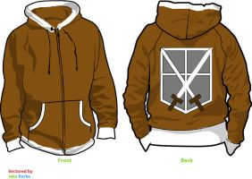 Attack on Titan Trainee Fleece Hoodie Sketch by Weeaboo-Warehouse