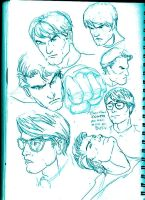 Superman Roughs by acir