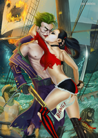 Mr.J and Harley by DinaKononova