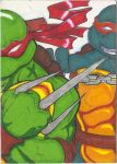 Raph-Mikey Card by Marc-El