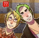 Nerd Alfred and Punk Arthur icon by jackzarts