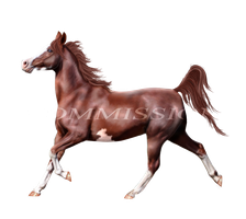 Chestnut Gaited Horse Commission by Hellofascination1991