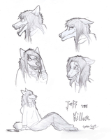 Jeff the Killer Sketches by Spectra-Sky