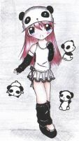Panda lover: color by LilChiisai