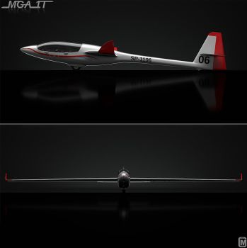 Model 3d : Concept glider MGA1T 2 of 3 by MarcinG1