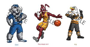 Hometown Mascots by CBSorgeArtworks