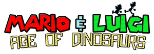 Mario and Luigi Age of Dinosaurs Logo by KingAsylus91