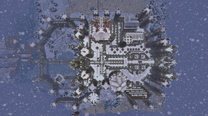 Minecraft Castle top view by CW390