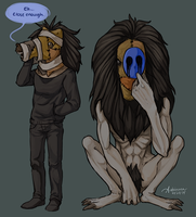 Trading Masks by SUCHanARTIST13