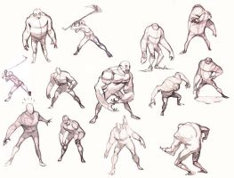 different poses by oddballinc