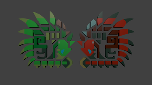 Rathalos and Rathian Icons by Mikey-Spillers