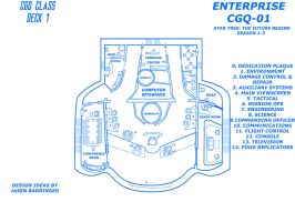ENTERPRISE CGQ-01 blueprint bridge by CaptainBarringer