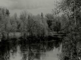Dark mystic lake... by wolfcreek50