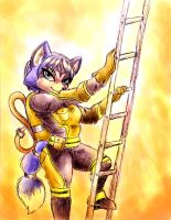 Krystal the firefighter by shiroiwolf