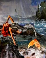 Mermaid collage by Fire-Redhead