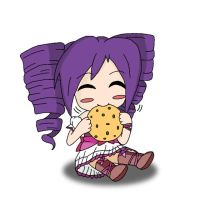 Chibi Murasaki Yumai with Cookie by Hexidextrous