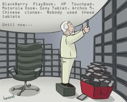 Tablets-cartoon Heroud by heroud