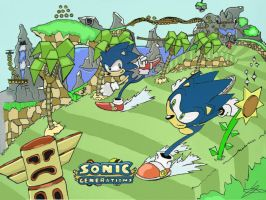 Sonic Generations Green hill by sonicman88