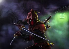 Witcher Deadpool by deviouslydevon
