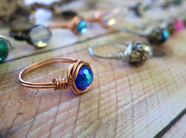 Wire Wrapped Rings by lovebirdcreations