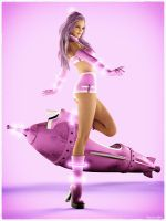 Space Cadet PinUp by Edheldil3D